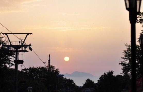 tramonto stretto messina